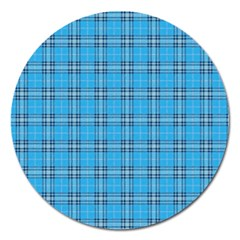 The Checkered Tablecloth Magnet 5  (round)
