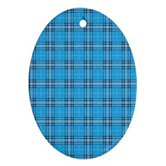 The Checkered Tablecloth Oval Ornament (two Sides) by Nexatart