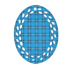 The Checkered Tablecloth Oval Filigree Ornament (two Sides) by Nexatart