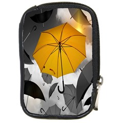 Umbrella Yellow Black White Compact Camera Cases by Nexatart