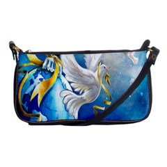 Turtle Doves Christmas Shoulder Clutch Bags by Nexatart