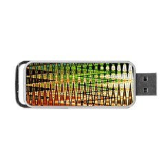 Triangle Patterns Portable Usb Flash (two Sides)
