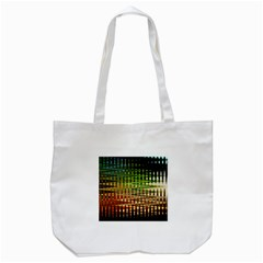 Triangle Patterns Tote Bag (white)