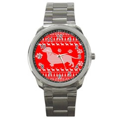 Ugly X Mas Design Sport Metal Watch