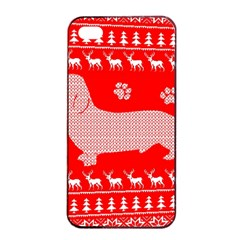 Ugly X Mas Design Apple Iphone 4/4s Seamless Case (black)