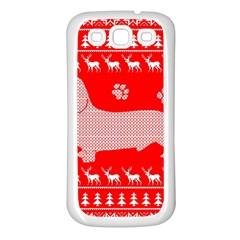 Ugly X Mas Design Samsung Galaxy S3 Back Case (white)