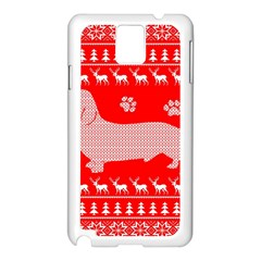 Ugly X Mas Design Samsung Galaxy Note 3 N9005 Case (white)