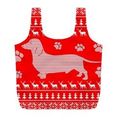 Ugly X Mas Design Full Print Recycle Bags (l)