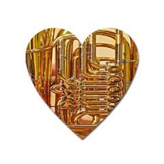 Tuba Valves Pipe Shiny Instrument Music Heart Magnet by Nexatart