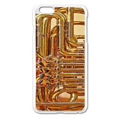 Tuba Valves Pipe Shiny Instrument Music Apple Iphone 6 Plus/6s Plus Enamel White Case