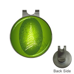 Vector Chirstmas Tree Design Hat Clips With Golf Markers by Nexatart
