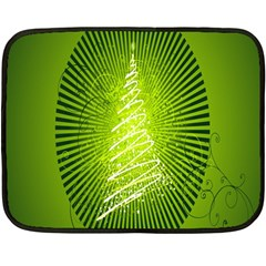 Vector Chirstmas Tree Design Double Sided Fleece Blanket (mini)