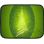 Vector Chirstmas Tree Design Double Sided Fleece Blanket (Mini)  35 x27 Blanket Back