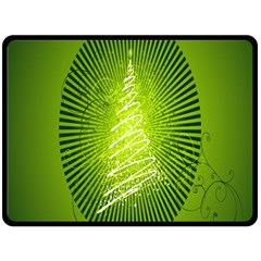 Vector Chirstmas Tree Design Fleece Blanket (large)  by Nexatart