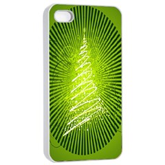 Vector Chirstmas Tree Design Apple Iphone 4/4s Seamless Case (white) by Nexatart