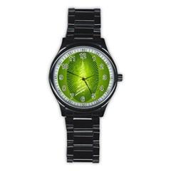 Vector Chirstmas Tree Design Stainless Steel Round Watch