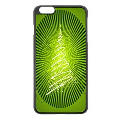 Vector Chirstmas Tree Design Apple Iphone 6 Plus/6s Plus Black Enamel Case by Nexatart