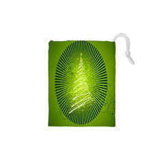 Vector Chirstmas Tree Design Drawstring Pouches (xs)