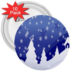 Vector Christmas Design 3  Buttons (10 Pack)