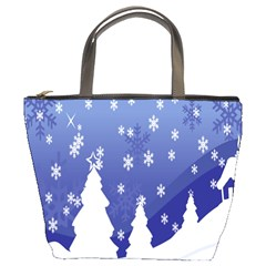 Vector Christmas Design Bucket Bags