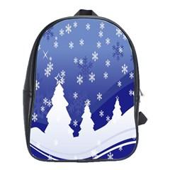 Vector Christmas Design School Bags(large)  by Nexatart