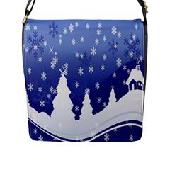 Vector Christmas Design Flap Messenger Bag (L)  by Nexatart