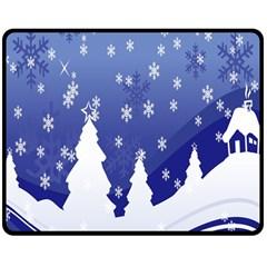 Vector Christmas Design Double Sided Fleece Blanket (medium)  by Nexatart
