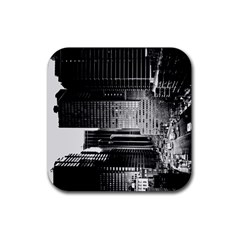 Urban Scene Street Road Busy Cars Rubber Coaster (square)