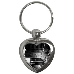 Urban Scene Street Road Busy Cars Key Chains (heart)  by Nexatart