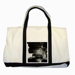 Urban Scene Street Road Busy Cars Two Tone Tote Bag