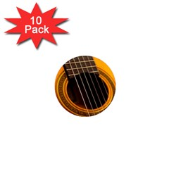 Vintage Guitar Acustic 1  Mini Magnet (10 Pack)  by Nexatart