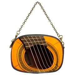 Vintage Guitar Acustic Chain Purses (one Side)  by Nexatart
