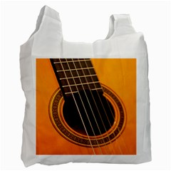 Vintage Guitar Acustic Recycle Bag (one Side) by Nexatart