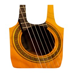 Vintage Guitar Acustic Full Print Recycle Bags (l)