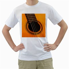 Vintage Guitar Acustic Men s T Shirt (white)