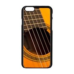 Vintage Guitar Acustic Apple Iphone 6/6s Black Enamel Case