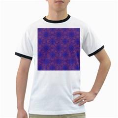 Tile Background Image Pattern Ringer T Shirts