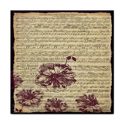 Vintage Music Sheet Song Musical Tile Coasters