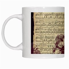 Vintage Music Sheet Song Musical White Mugs by Nexatart