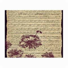 Vintage Music Sheet Song Musical Small Glasses Cloth by Nexatart