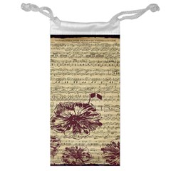 Vintage Music Sheet Song Musical Jewelry Bag by Nexatart