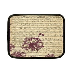 Vintage Music Sheet Song Musical Netbook Case (small)  by Nexatart