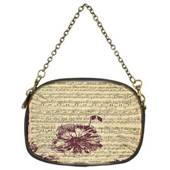 Vintage Music Sheet Song Musical Chain Purses (one Side)  by Nexatart