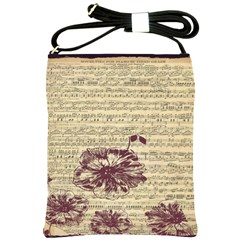 Vintage Music Sheet Song Musical Shoulder Sling Bags by Nexatart