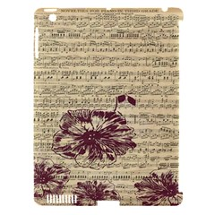 Vintage Music Sheet Song Musical Apple Ipad 3/4 Hardshell Case (compatible With Smart Cover)