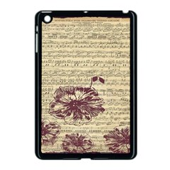 Vintage Music Sheet Song Musical Apple Ipad Mini Case (black)