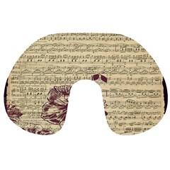 Vintage Music Sheet Song Musical Travel Neck Pillows