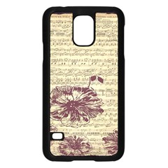 Vintage Music Sheet Song Musical Samsung Galaxy S5 Case (black)
