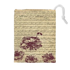 Vintage Music Sheet Song Musical Drawstring Pouches (extra Large) by Nexatart