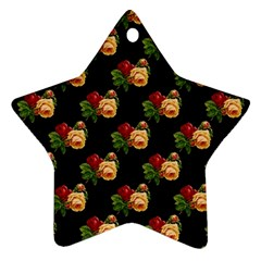 Vintage Roses Wallpaper Pattern Star Ornament (two Sides)